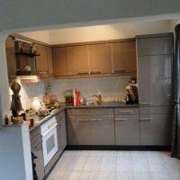 Kunststof witte keuken in hoogglans gespoten